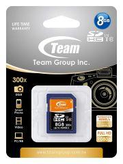 Карта памет TEAM SDHC, 8GB, Class 10