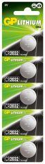 Бутонна батерия литиева GP CR2032 3V 5бр. в блистер / цена за 1 бр./ GP
