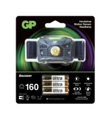 Челник/Фенер с диоди GP BATTERIES CH34, Premium Range  с 3 батерии  ААА 160 лумена