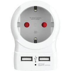 Skross контакт с 2 x USB порта