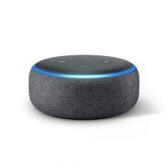 Преносима смарт тонколона Amazon Echo Dot 3 Charcoal, гласов асистент, Черен