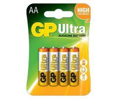Алкална батерия GP ULTRA LR6 AA /4 бр. в опаковка/ 1.5V GP, GP15AU