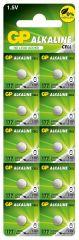 Бутонна алкална батерия GP177 LR-626/ 10 бр./pack цена за 1 бр./ AG4 1.55V GP