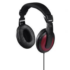 Слушалки HAMA Basic4Music ,HK-5618 с 2 м кабел ,Черен/Червен