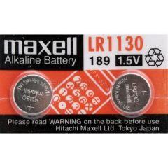 Бутонна алкална батерия LR-1130 /2 бр. в опаковка/ 1.55V MAXELL