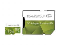 Карта памет Team Group Color microSDHC 16GB, UHS-I Class 10 + SD Адаптер
