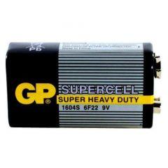 Цинк карбонова батерия GP 6F22 /9V/ Supercell 1604E 1 бр. shrink