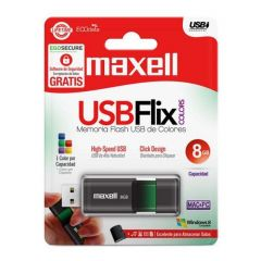 USB памет MAXELL FLIX, USB 2.0, 8GB, ЧЕРЕН