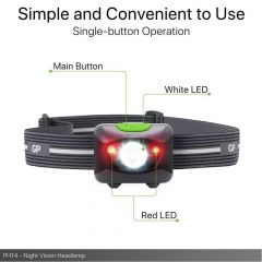 Фенер Челник/ Prosumer Xplor PH14 Multi Purpose Red light Night vision 200 лумена