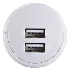 Зарядно 220 V HAMA 121989, 2 x USB, 2.1 A, Бял