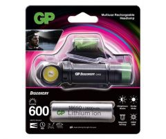 Челник/Фенер с диоди GP BATTERIES CH35, Premium Range  1 3 батерия CR18650  600 лумена