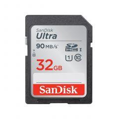 Карта памет SANDISK Ultra® SDHC/SDXC, 32GB, Class 10 UHS-I, 90 Mb/s