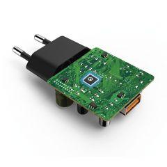 Комплект за зареждане 220V HAMA 178336, Micro-USB, 3 A, QC 3.0 + Micro-USB Cable, 1.5 m, Черен