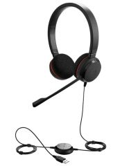 Слушалки Jabra Evolve 20 Stereo, Микрофон, Черни