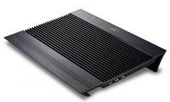 "Охладител за лаптоп DeepCool N8 BLACK, 17"", 2x140 mm, Черен"