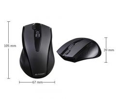 Безжична безшумна мишка A4tech V-Track G9-500FS, 2.4GZ, Черен
