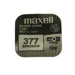 Бутонна батерия сребърна MAXELL SR-626 SW /AG4/377/ 1.55V