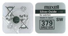 Бутонна батерия сребърна MAXELL SR-521 SW /AG0/379/ 1.55V