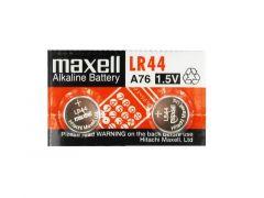 Бутонна микроалкална батерия LR-44 /AG13/ 2бр. 1,55V в опаковка MAXELL