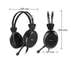 Слушалки A4TECH HU-30, Стерео, USB, Черни