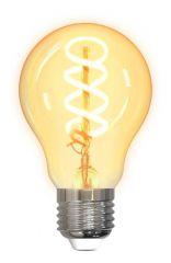 Смарт крушка DELTACO SH-LFE27A60S, Е27, WiFI 2.4GHz, 5.5W, 470lm, димираща, LED спирали