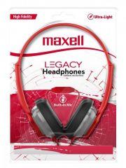 Слушалки с микрофон MAXELL HP360 LEGACY, Червен