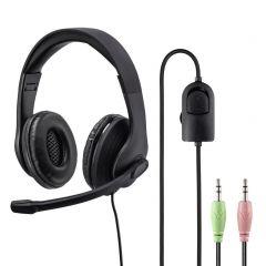 Слушалки HAMA HS-P200, стерео, микрофон, лента за главата, Черен