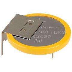 Бутонна батерия литиева CR 2032 3V с накрайници industrial EVE BATTERY