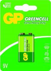 Цинк карбонова батерия GP 1604GLF-U1, 6F22, 9V, Greencell, 1 бр. блистер