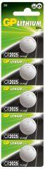 Литиева бутонна батерия GP CR-2025 3 V  5бр. в блистер / цена за 1 бр./