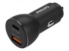 PHILIPS car charger - 2 USB ports 1 USB-A + 1 USB C ports - DLP2521/00