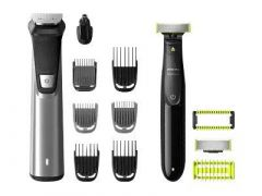 PHILIPS Multigroom Series 9000 13 in 1 + One Blade Face and Body Qp2630 - MG9720/90