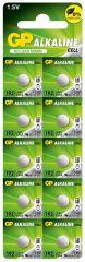 Бутонна алкална батерия GP192 LR-41/ 10 бр./pack цена за 1 бр./ 1.55V AG3