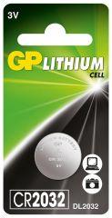 Бутонна батерия литиева GP CR2032 3V 1бр. /1pk/ GP