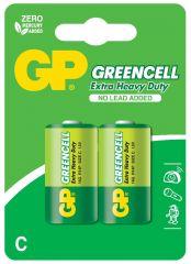 Цинк карбонова батерия GP R14 14G-U2 Greencell, 2 бр. в опаковка, BLISTER, 1.5V