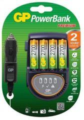 Зарядно устройство GP PB50GS270, 4 AA, NiMH 2700mAh, FAST, 12V & 220V