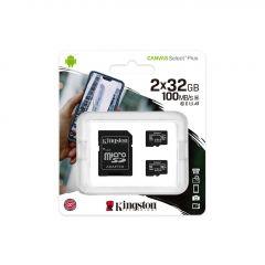 Карта памет Kingston Canvas Select Plus Multi pack 2 x microSDHC 32GB, Class 10 UHS-I