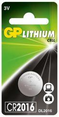 Литиева бутонна батерия GP CR 2016 3V 1бр. /1pk/ GP