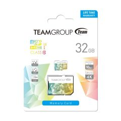 Карта памет Team Group Color Card II 32GB Micro SDHC/SDXC UHS-I U3 + SD Adapter