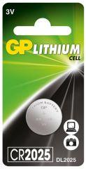 Литиева бутонна батерия GP CR-2025 3 V  1 бр.  GP