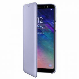Samsung Samsung Galaxy A6+ (2018), Flip Wallet Cover, Violet