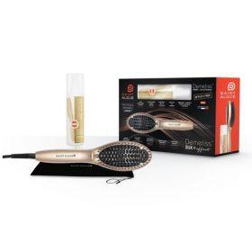 Комплект Demeliss Silk Effect комплект - четка за изправяне на коса DEMELISS PRO + термозащитен спрей за коса Liss&Protect